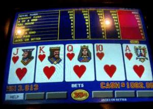 video poker op het internet spelen